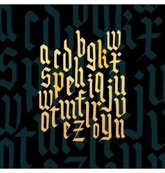 Composition of lowercase letters blackletter vector image