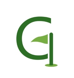 Letter G and golf logo or icon design template vector image vector image