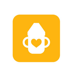 mug with handles for child bottle flat color vector image vector image