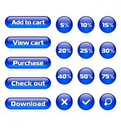 online shop button set vector image vector image