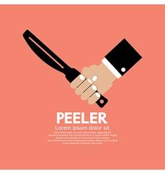 Peeler kitchen utensil vector