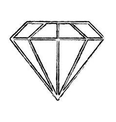 single diamond icon image vector image