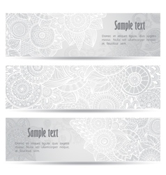 Abstract hand drawn ethnic pattern card set vector image vector image