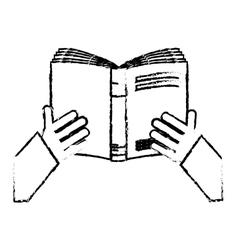 Book reading icon image vector