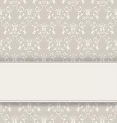 damask retro background vector image vector image