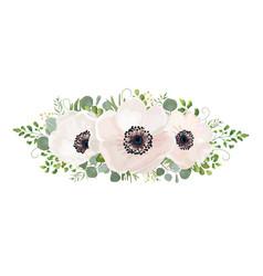 flower bouquet watercolor design element vector image