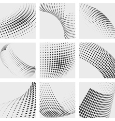 Halftone dots abstract backgrounds set vector image vector image