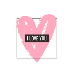 love greeting card minimalism style vector image vector image