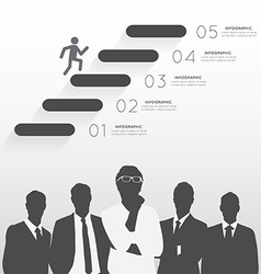 Silhouette businessman team vector image