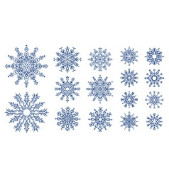 Snowflakes isolated on white background vector image vector image