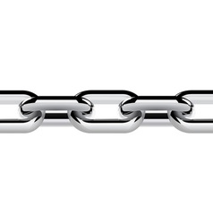 stainless steel chain vector image