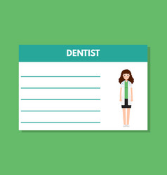 about doctor dentist template medical vector image vector image