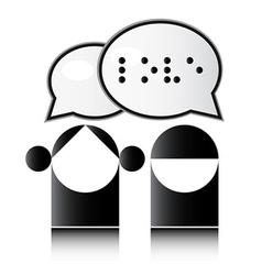 Blind man Braille alphabet vector image