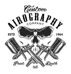 custom aerography company emblem vector image vector image
