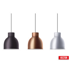 retro metallic stylish ceiling cone lamp vector image vector image