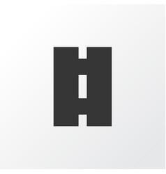 road icon symbol premium quality isolated way vector image
