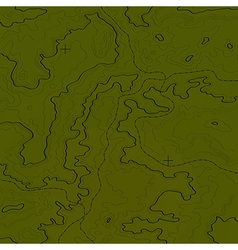 Topographic map jungle green vector image