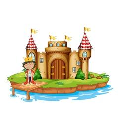 A king near the castle vector image