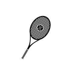 A tennis racquet and a ball icon vector image vector image