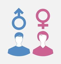 male and female icons gender symbols - vector image
