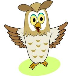 owl cartoon vector image vector image
