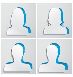 Set of paper avatars vector image