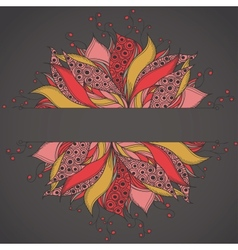Template for card with fantasy flower vector image