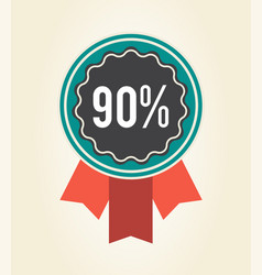 90 sale clearance sign icon vector