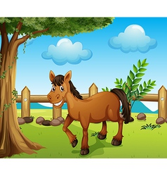 A horse under the tree vector image