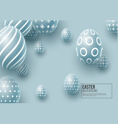 abstract easter blue background vector image