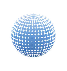 abstract halftone 3d sphere design halftone ball vector image