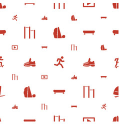 active icons pattern seamless white background vector image