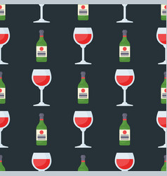Alcohol drinks seamless pattern beverages cocktail vector