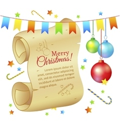 ancient scroll space to write greetings vector image