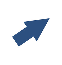 arrow cursor direction pointer click vector image