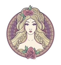 Art nouveau woman vector image