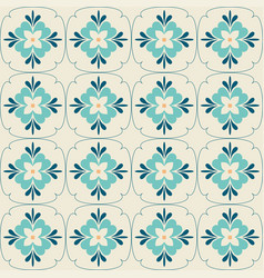 Background vintage flower seamless floral pattern vector