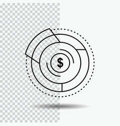 balance budget diagram financial graph line icon vector image