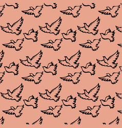 beautiful bright background with birds vector image