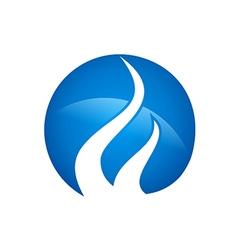 Blue gas abstract logo vector