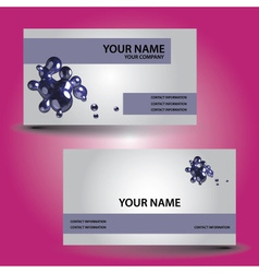 Business card abstract bubbles eps10 vector