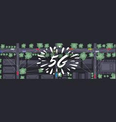 cars driving road social media network vector image