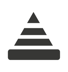 caution coneisolated icon design vector image