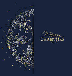 christmas snowflake decoration vector image
