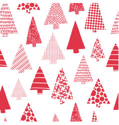christmas trees modern seamless pattern vector image