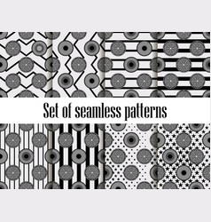 Citrus seamless pattern set black ornament vector