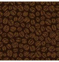 Coffee bean seamless pattern vector image