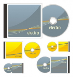 compact disks with electro layout vector image