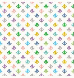 Cute colorful geometrical art deco pattern vector