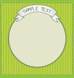 Cute green frame template vector